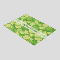 Lime Background Doormat