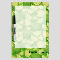 Lime Background Dry Erase Board