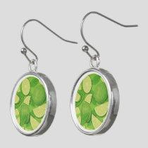 Lime Background Earrings