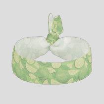 Lime Background Elastic Hair Tie