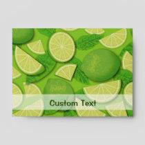 Lime Background Envelope