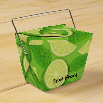 Lime Background Favor Box