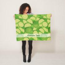 Lime Background Fleece Blanket
