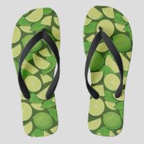 Lime Background Flip Flops