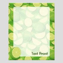 Lime Background Flyer
