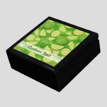 Lime Background Gift Box