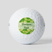 Lime Background Golf Balls