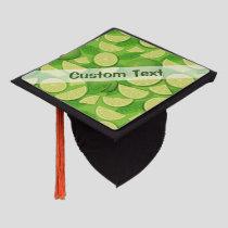 Lime Background Graduation Cap Topper
