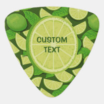 Lime Background Guitar Pick