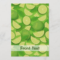 Lime Background Invitation