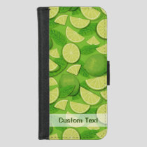 Lime Background iPhone 8/7 Wallet Case