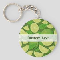 Lime Background Keychain