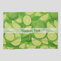 Lime Background Kitchen Towel