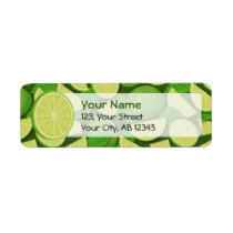 Lime Background Label