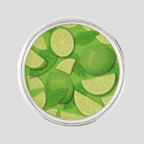 Lime Background Lapel Pin