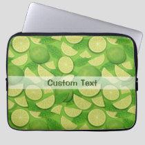 Lime Background Laptop Sleeve
