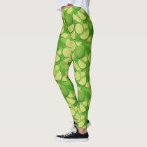 Lime Background Leggings