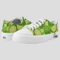 Lime Background Low-Top Sneakers