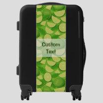 Lime Background Luggage
