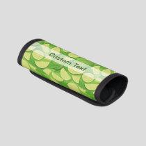 Lime Background Luggage Handle Wrap