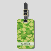 Lime Background Luggage Tag
