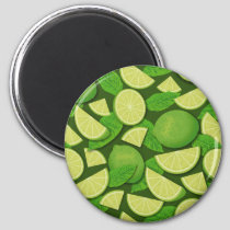 Lime Background Magnet