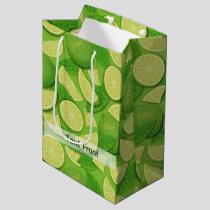 Lime Background Medium Gift Bag