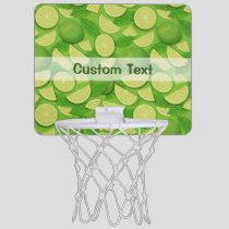 Lime Background Mini Basketball Hoop