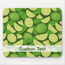 Lime Background Mouse Pad