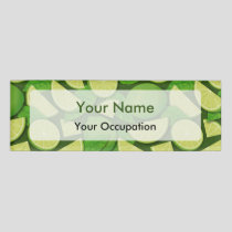 Lime Background Name Tag