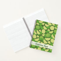 Lime Background Notebook