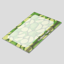 Lime Background Notepad