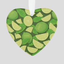 Lime Background Ornament