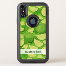 Lime Background OtterBox Defender iPhone X Case