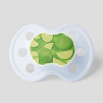 Lime Background Pacifier