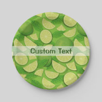 Lime Background Paper Plate