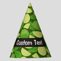 Lime Background Party Hat