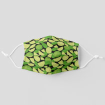 Lime Background Pattern Adult Cloth Face Mask