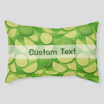 Lime Background Pet Bed