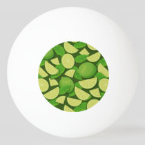 Lime Background Ping Pong Ball