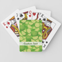 Lime Background Playing Cards