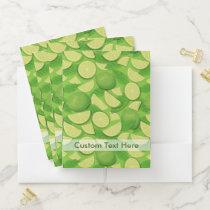 Lime Background Pocket Folder