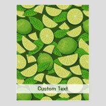 Lime Background Postcard