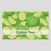 Lime Background Rectangular Sticker