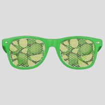Lime Background Retro Sunglasses