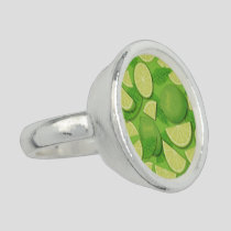 Lime Background Ring