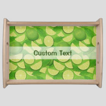 Lime Background Serving Tray