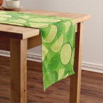 Lime Background Short Table Runner