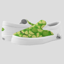 Lime Background Slip-On Sneakers