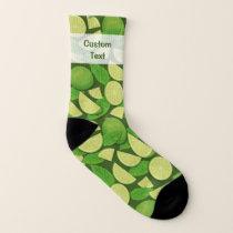 Lime Background Socks